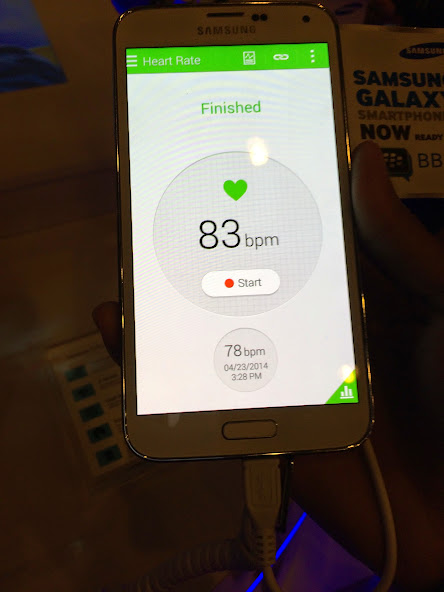 Heart Rate Monitor on Samsung Galaxy S5