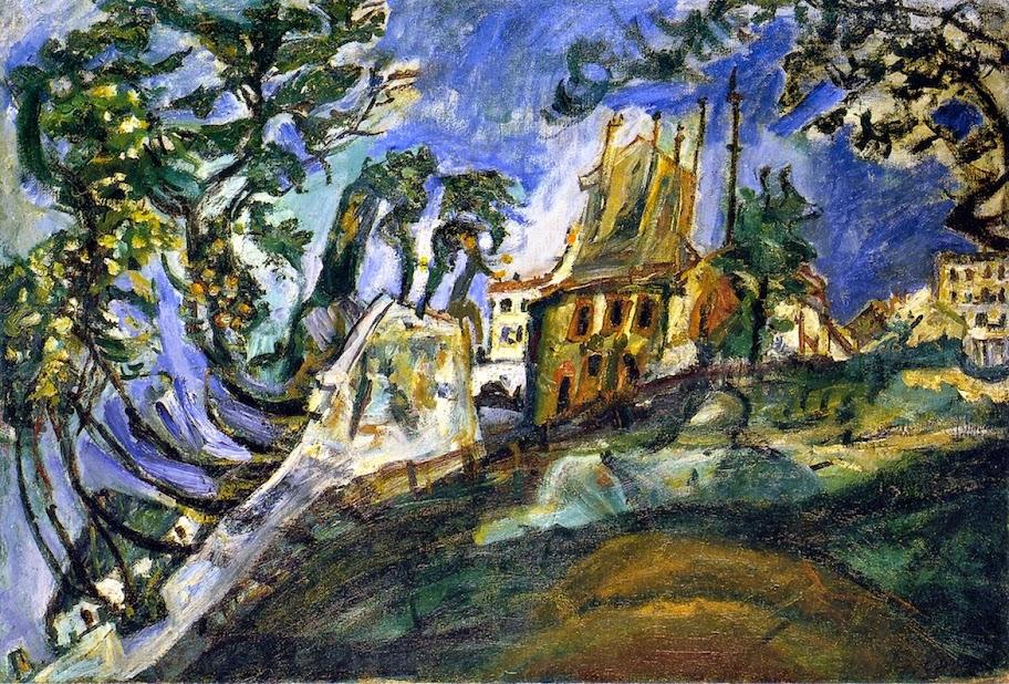 Chaim Soutine - Landscape at Montmartre