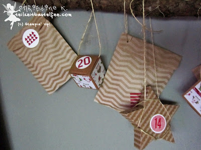 stampin up, adventskalender, advent calendar, 24 türchen, 25 days, simply created sternstunde
