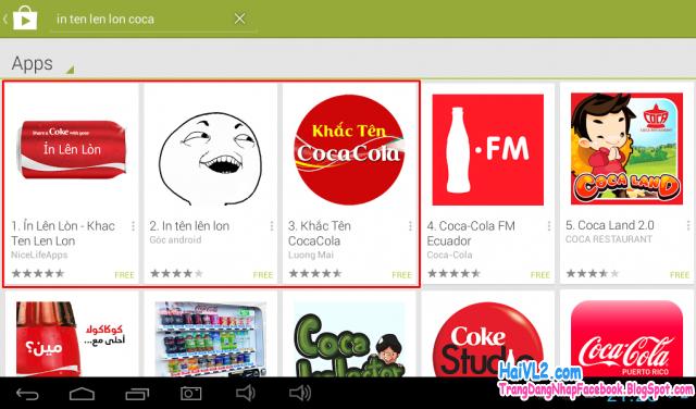 3 ứng dụng in tên lên lon trên Google Play