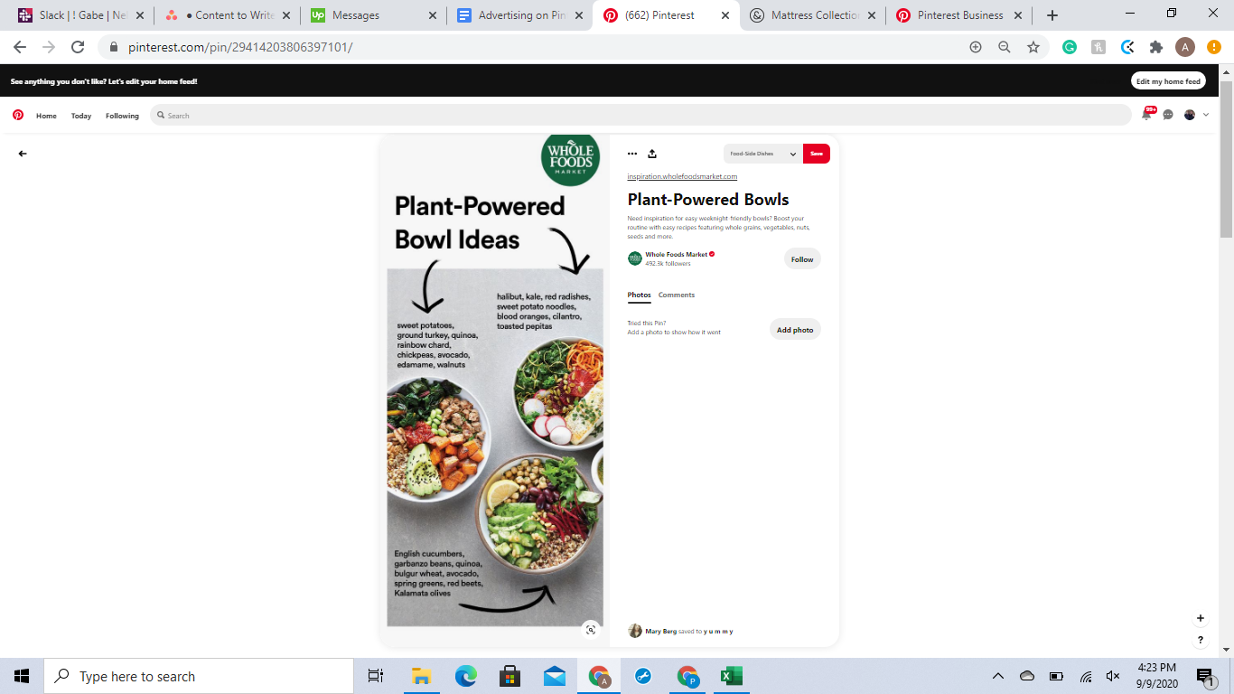 Make sure to keep your Pinterest ads visual