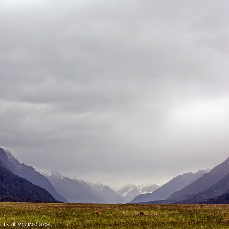 Mountain Range at Fiordland National Park New Zealand | Day 5 New Zealand Sweet as South Contiki Tour.