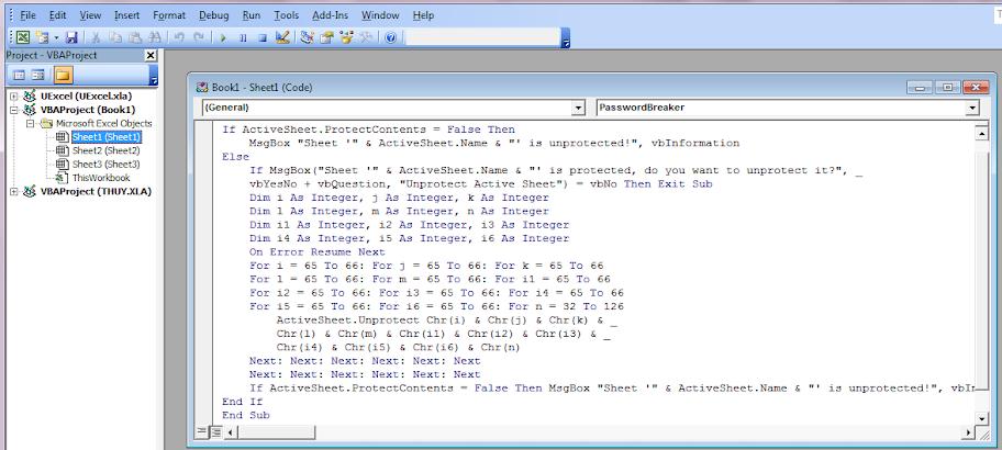 Cách phá mật khẩu trong Microsoft Excel đơn giản 2