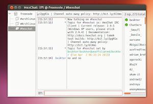 HexChat in Ubuntu Linux