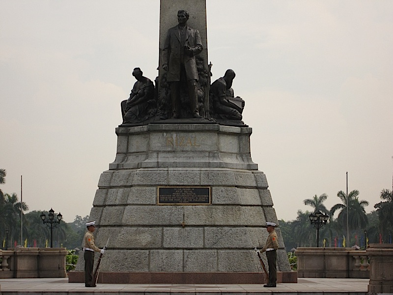 marines guarding the Rizal Shrine