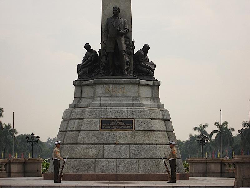 marines guarding the Rizal Shrine