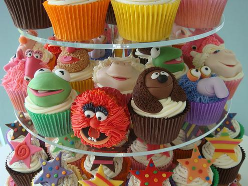 Torre de Cupcakes de los Teleñecos (The Muppets Show) de The Blog Cupcake