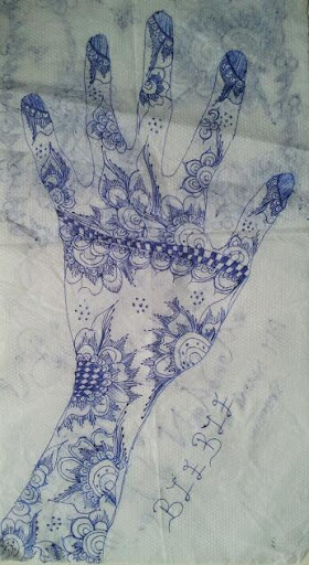 Drawing on a Serviette