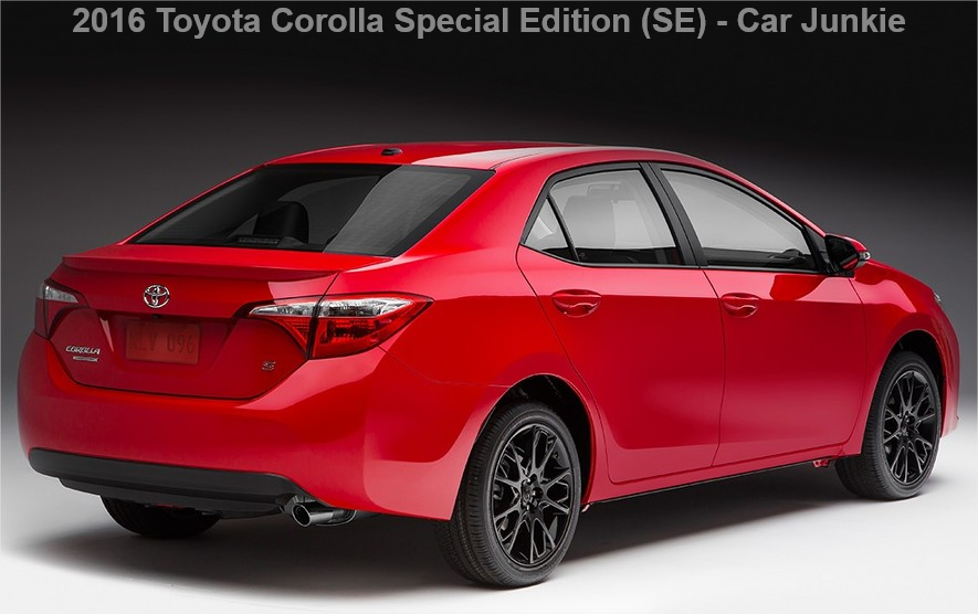 2016 Toyota Corolla Special Edition Price, Specs Reviews