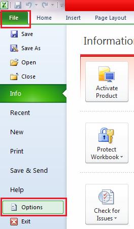Thay đổi cách thức nhập liệu trong Excel 2
