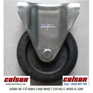 Bánh xe chịu nhiệt +230C Colson cho xe đẩy trong lò xoay | 2-4608-53HT