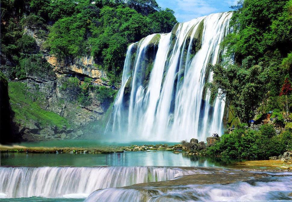 Хуангошу, Китай, Красивые водопады планеты