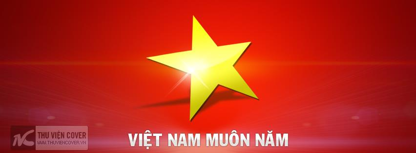 Ảnh bìa cờ đỏ sao vàng kỷ niệm ngày Quốc khánh 2-9-2015
