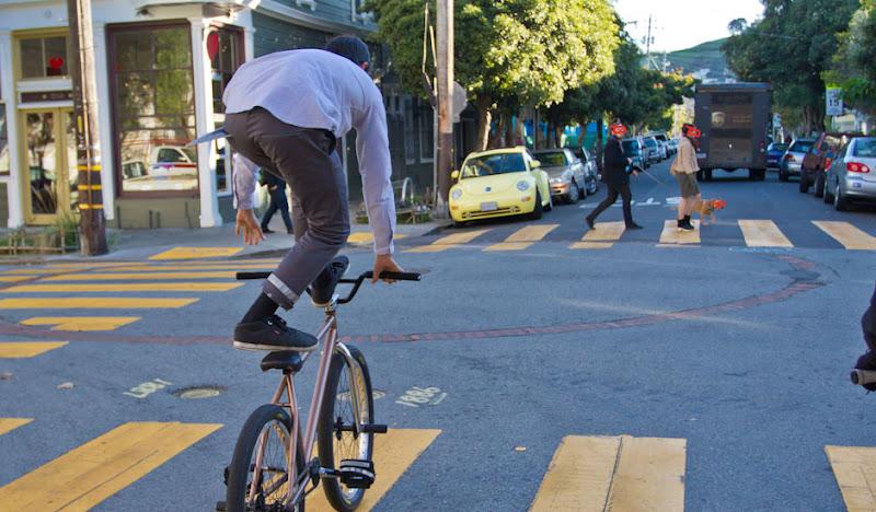 Graphite BTW Pants: Pedestrians crossing the street