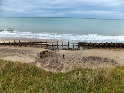 Hexagonal pill-box on the beach at Happisburgh