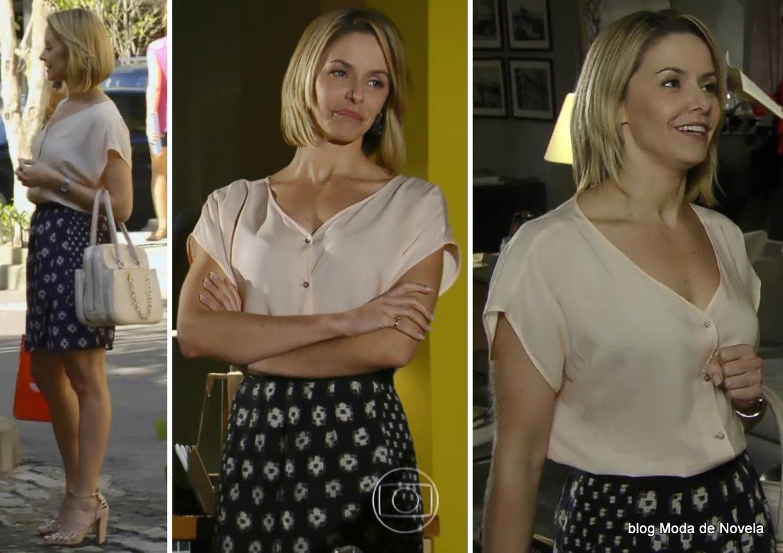 moda da novela Em Família - look da Silvia dia 19 de junho