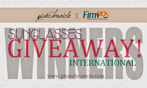 PixieChronicle X Firmoo Sunglasses Giveaway Winners