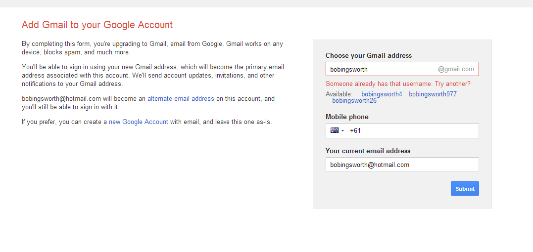 Merging my gmail.com account with my hotmail.com account - Google ...