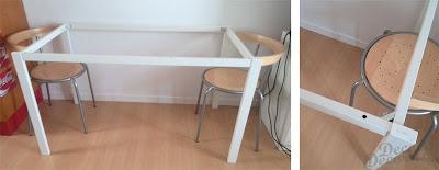 Mesa con tableros.