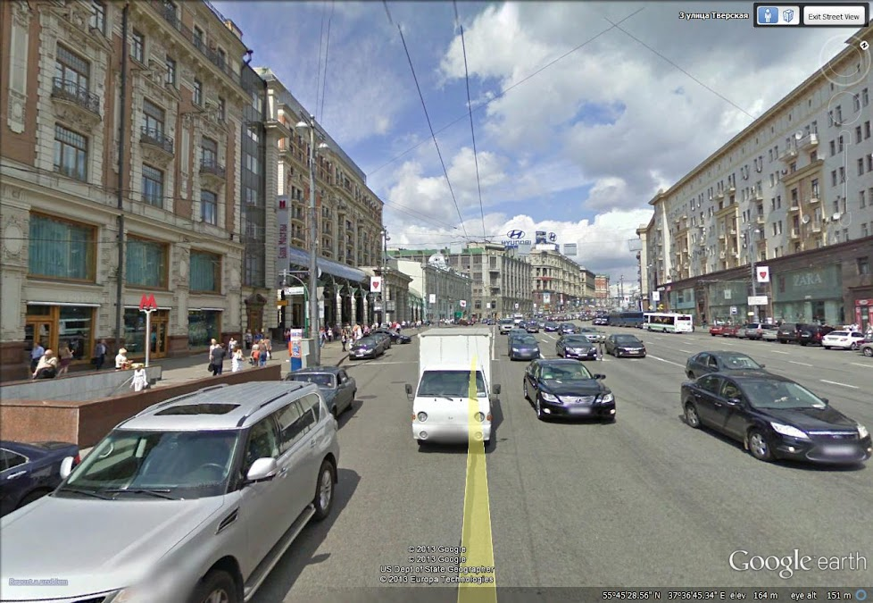 Moscow in Google Earth