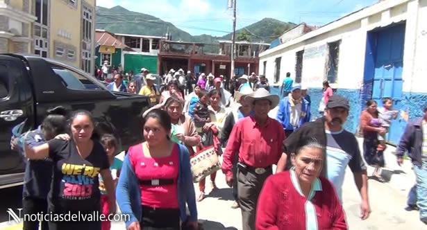 Campesinos protestan por falta de fertilizante en Esquipulas Palo Gordo