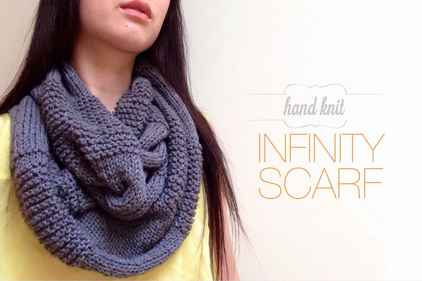 DIY Handknit Infinity Scarf