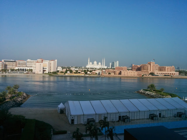 View of Sheikh Zayed Grand Mosque from the rooms in Fairmont Bab Al Bahr, Abu Dhabi