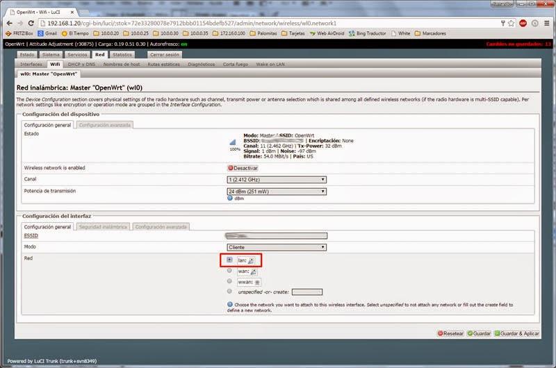 Tutorial] Cliente-Puente Wifi con driver propietario Broadcom