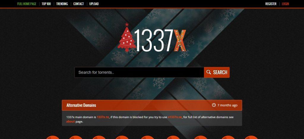 Sitio popular de torrent 1337X