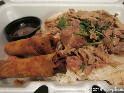 Chicken Adobo Rice Bowl Combo w/ Lumpia