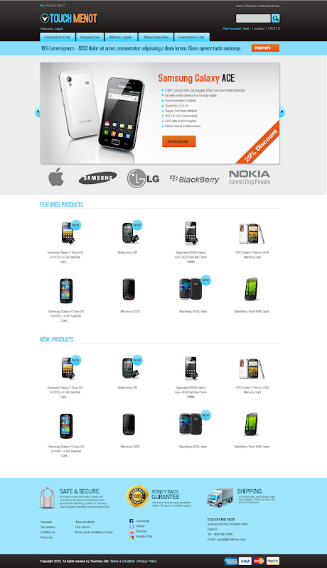 Home Page -Mobile Prestashop Template