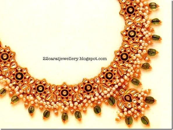 Gold Kundan Jewellery designs Jewellery Designs