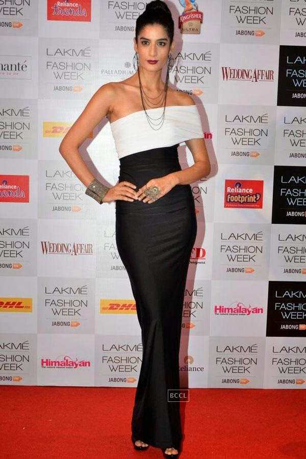Erika Packard during Lakme Fashion Week curtain-raiser, held in Mumbai, on July 28, 2014. (Pic: Viral Bhayani)