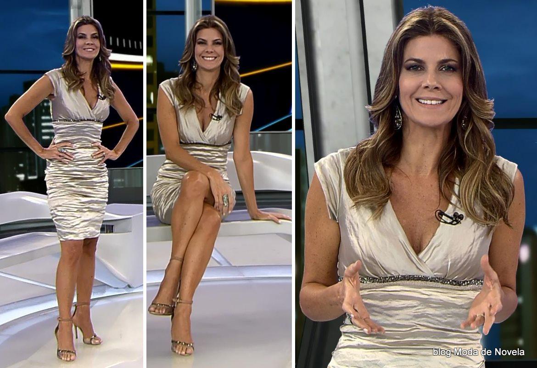 moda do programa Domingo Espetacular - look da Fabiana Scaranzi dia 18 de maio
