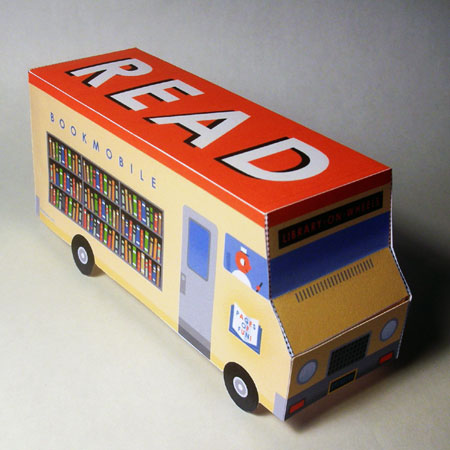 Bookmobile Papercraft