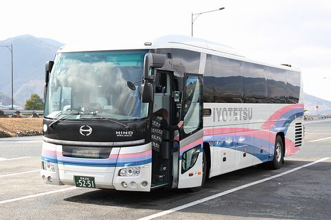 伊予鉄道「ハーバーライナー」 5251 吉野川SAにて