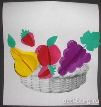 Объемная аппликация фрукты
