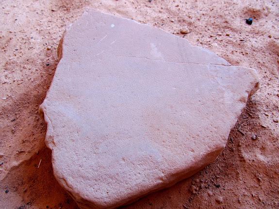 Broken grinding stone