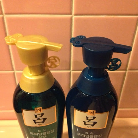 ryoe deep cleansing shampoo and conditioner green bottle - photo credit: intrice.blogspot.com