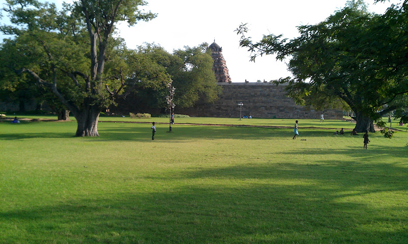 Temple surrounded by Park