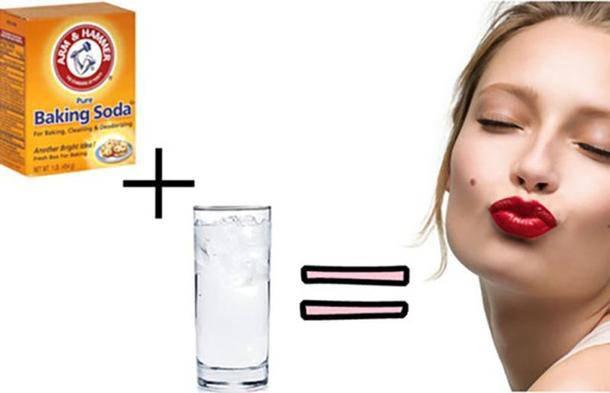 Hỗn hợp nước và baking soda