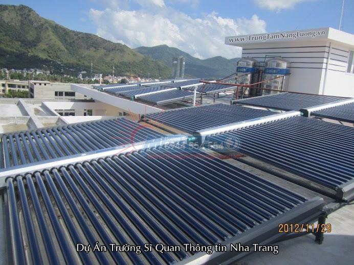 Hệ thống máy nước nóng năng lượng mặt trời tại Trường sĩ quan thông tin Nha Trang