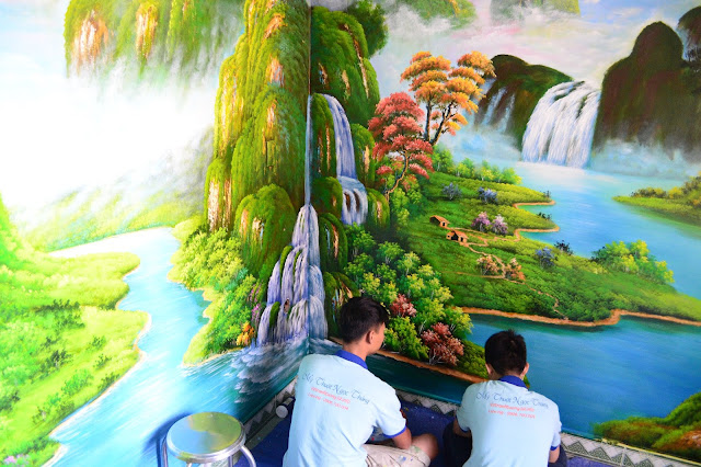 Vẽ Tranh Tường Phong Thủy Gia Đình