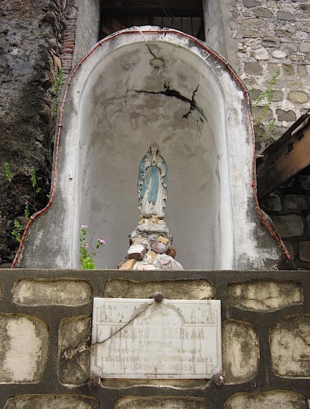 memorial for Ilocano poet Mariano A. Gaerlan at the Saint John the Baptist Church in San Juan, La Union