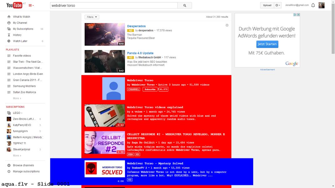 YouTube Webdriver Torso