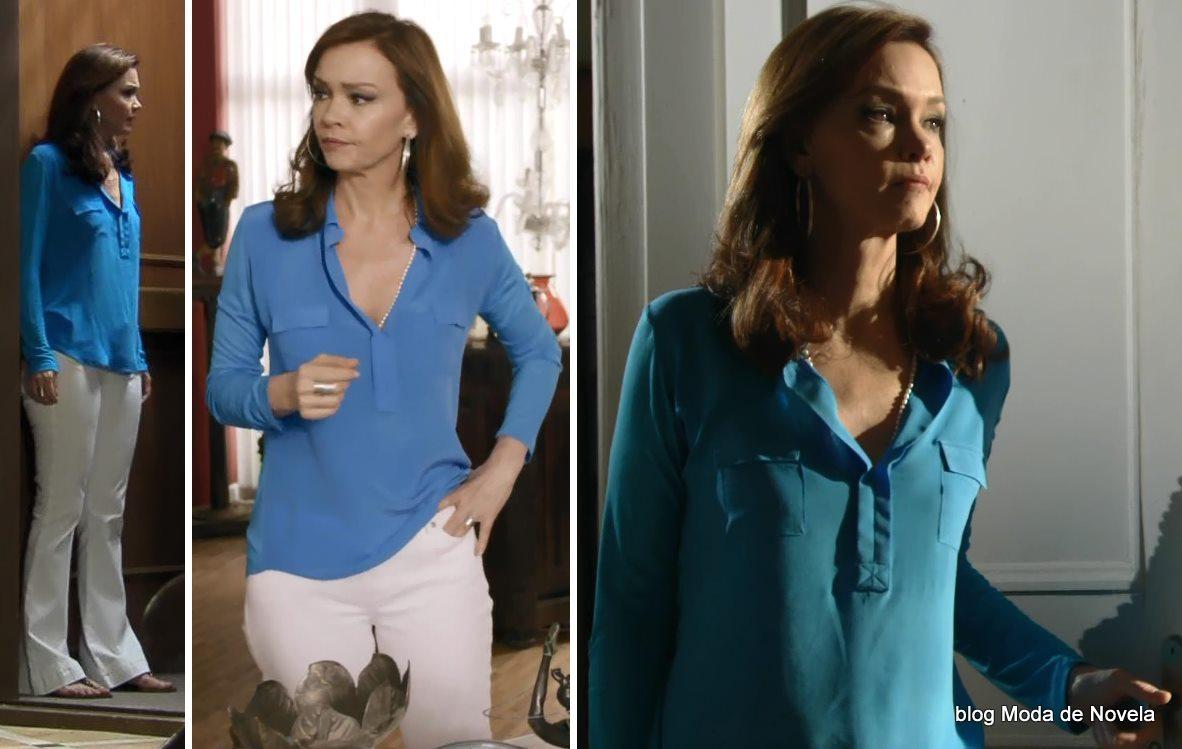 moda da novela Em Família - look da Helena dia 17 de maio