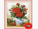 Tranh đính đá 5D, Bình hoa hồng