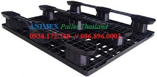 Pallet nhựa đen Thailand SLT 1012 LG
