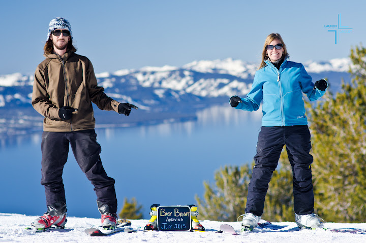 Pregancy Announcement, Skiers' pregnancy announcement, Heavenly Mountain, Tahoe South
