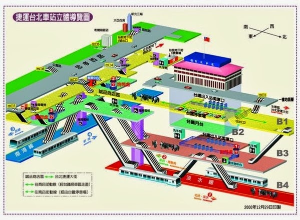 Figure 1. 以台北火車站為例,如何在地下樓層取得經緯度的座標?